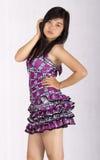 den asiatiska flickan poserar sexigt Arkivfoton