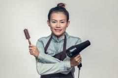 Den Asien kvinnan rymde Royaltyfria Foton