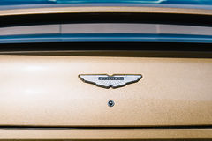 Den Aston svalan besegrar bilen Arkivfoto