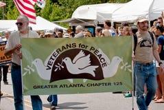 den atlanta festivalen inman georgia ståtar parkfjädern Arkivfoto