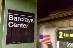 Den atlantiska avenyn, Barclays centrerar stationen - NYC-gångtunnel Arkivbild