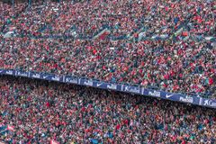 Den Atletico Madrid stadion, Spanien royaltyfri foto
