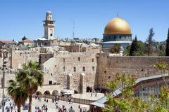Den att jämra sig väggen av Jerusalem Royaltyfri Foto