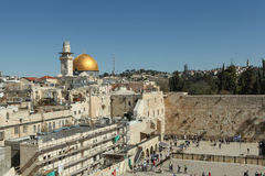 Den att jämra sig väggen, Jerusalem - Israel Royaltyfri Fotografi