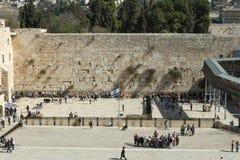 Den att jämra sig väggen, Jerusalem - Israel Royaltyfria Bilder