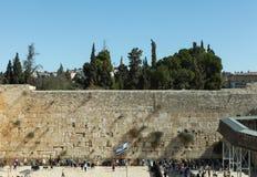 Den att jämra sig väggen, Jerusalem - Israel Arkivfoton