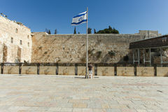 Den att jämra sig väggen, Jerusalem - Israel Royaltyfria Foton