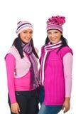 den attraktiva kläder stack rosa kvinnor Fotografering för Bildbyråer