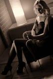 Attraktiv kvinna Arkivfoton