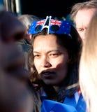 den auckland folkmassan luftar patriotisk rwcstrand Royaltyfri Bild