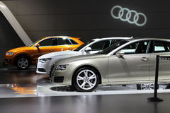 Den Audi bilen royaltyfri fotografi