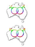 den Australien förbindelsen samma könsbestämmer Arkivbilder