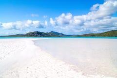 den Australien stranden whitehaven Arkivfoton