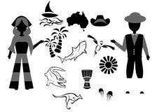 Den Australien uppsättningen Arkivbilder