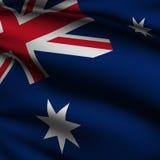 den australiensiska flaggan framförde fyrkanten Royaltyfri Foto
