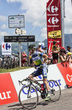 Den australiska cyklisten Simon Clarke Arkivbilder