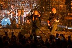Den Avantasia Ghostlights världen turnerar 2016 i Bratislava, Slovakien Royaltyfri Foto
