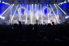 Den Avantasia Ghostlights världen turnerar 2016 i Bratislava, Slovakien Arkivfoton