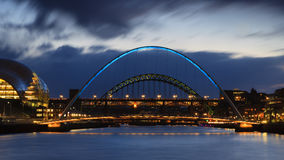 Gateshead afton Royaltyfria Foton