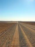 Outback lång väg Arkivbilder