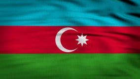Den Azerbajdzjan flaggan 3d framför 4k lager videofilmer