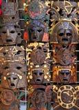 Den Aztec mayan träindiska maskeringen handcrafts Arkivbilder