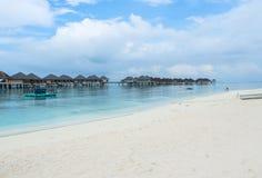 Den bästa all-inklusive Maldiverna vatten-villan tillgriper i Maldiverna Royaltyfria Foton