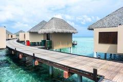 Den bästa all-inklusive Maldiverna vatten-villan tillgriper i Maldiverna Royaltyfria Bilder