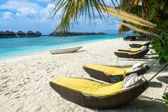 Den bästa all-inklusive Maldiverna vatten-villan tillgriper i Maldiverna Royaltyfri Bild