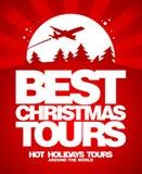 Den bästa julen turnerar designmallen. vektor illustrationer