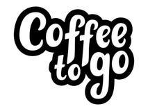Den bästa kaffehanden skissade bokstäveraffischen, borstekalligrafi För logotyp emblem, symbol, kort, vykort, logo, baner, etiket royaltyfri bild
