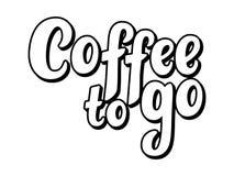 Den bästa kaffehanden skissade bokstäveraffischen, borstekalligrafi För logotyp emblem, symbol, kort, vykort, logo, baner, etiket royaltyfria bilder