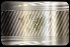 den bästa originalen för affärskortet skrivar ut den klara mallvektorn abstrakt bakgrundsmetall Royaltyfri Bild