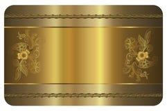 den bästa originalen för affärskortet skrivar ut den klara mallvektorn Guld- kort Royaltyfri Fotografi