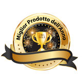 Den bästa produkten av året - italienskt utmärkelseband Arkivbild