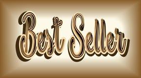 Den bästa säljaren för inskrift som är storartad från skinande guld på en dul Royaltyfri Foto