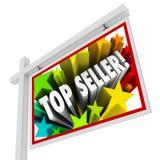 Den bästa säljaren Real Estate undertecknar det bästa medlet Salesperso för den säljande byrån Arkivfoto
