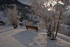 Den bästa synvinkeln av haute-Nendaz Royaltyfri Foto