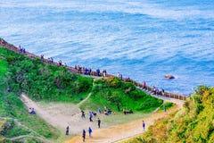 Den Badouzi sjösidan parkerar i Taiwan Royaltyfria Bilder