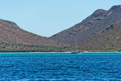 Den Baja California kusten vaggar och öknen Arkivbilder