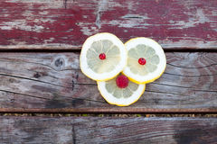 den bakgrund isolerade citronen skivar white Royaltyfria Foton