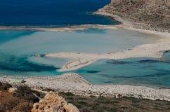Den Balos strandlagun i Kreta Fotografering för Bildbyråer