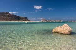Den Balos strandlagun i Kreta Arkivbild