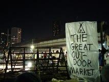 Den Bangkok hamnkvarteret den stora utomhus- marknaden Arkivfoton