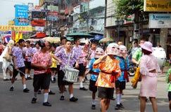 den bangkok khaoen ståtar vägen san thailand Arkivfoto