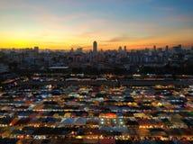 Den Bangkok nattmarknaden arkivbild