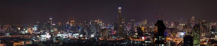 Den Bangkok stadspanoramat beskådar Royaltyfri Fotografi
