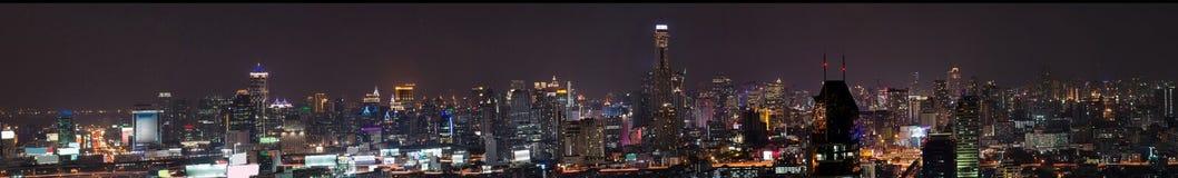 Den Bangkok stadspanoramat beskådar Arkivfoto