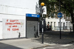 den banksy fitsroviaen tjaller Royaltyfri Bild