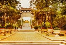 Den Baomo trädgården i Guangzhou, Kina Royaltyfria Bilder
